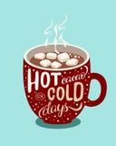 Gorący cacao dla zimnych dni Obraz Royalty Free