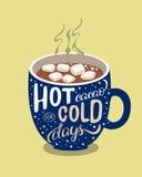 Gorący cacao dla zimnych dni Zdjęcie Royalty Free