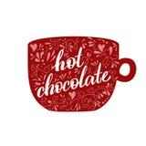Gorący cacao kubek Zdjęcia Royalty Free