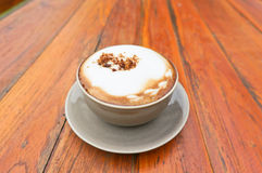 Gorący cappuccino Fotografia Royalty Free