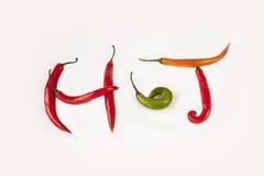Gorący chili pieprze - Zdjęcia Stock