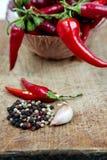 Gorący chili pieprze Obraz Royalty Free