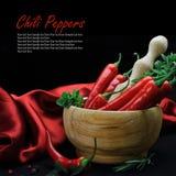 Gorący chili pieprze Obrazy Stock