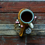 gorący czekoladowy napój Zdjęcie Royalty Free