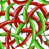 Gorący czerwonych pieprzy bezszwowy wzór Zdjęcie Stock