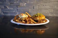 Gorący hamburger Obrazy Stock