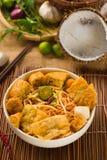 Gorący i korzenny Singapur curry'ego karmowy kluski Zdjęcia Royalty Free