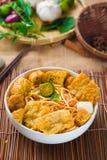 Gorący i korzenny Singapur curry'ego kluski Zdjęcie Stock