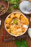 Gorący i korzenny Singapur curry'ego kluski Zdjęcia Stock