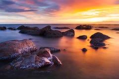 Gorący i zimny morze Obrazy Royalty Free