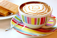 Gorący karmelu latte Fotografia Royalty Free