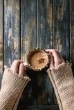 gorący kubek czekolady Zdjęcia Royalty Free