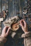 gorący kubek czekolady Obraz Stock