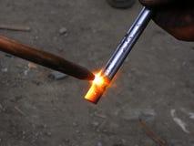 gorący metal obraz stock