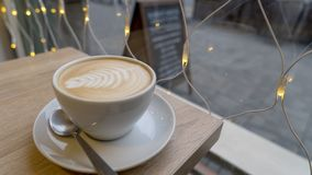 Gorący napoju coffe latte Obraz Royalty Free