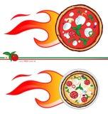 Gorący pizza projekt Obrazy Stock