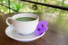 Gorący zielonej herbaty matcha Obraz Stock