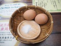Gorących wiosen Gotowany jajko Zdjęcie Stock