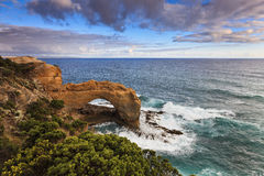 GOR Peterborough Arch. Australian Great Ocean Road national park - sandstone arch near Peterborough at the ocean edge resulted in erosion Stock Photography