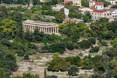 Ágora antiga de Atenas em Greece Fotos de Stock Royalty Free
