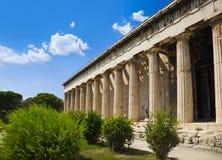 Ágora antiguo en Atenas, Grecia Imagen de archivo