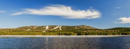 Gora Belaya Sverdlovsk region Ryssland arkivbild