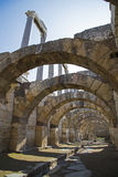 Ágora de Smyrna com as colunas do século IV BC Izmir Turquia 2014 Foto de Stock