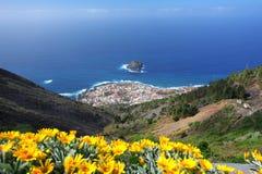 Gorachico. Stitched panorama of Tenerife's heart Stock Image