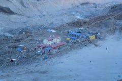 Gorak Shep at dawn from Kala Patthar, Gorak Shep, Everest Base Camp trek, Nepal. View of Gorak Shep at dawn from Kala Patthar, Gorak Shep, Everest Base Camp trek Royalty Free Stock Images