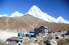 Gorak Shep - Everest base camp trail Stock Photos