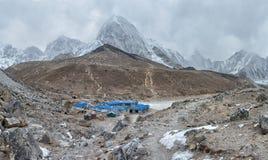 Gorak Shep village and Kala Patthar , Nepal stock photography