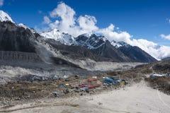 Gorak Shep Villaggio principale prima del campo base di Everest Immagini Stock Libere da Diritti