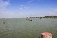 Gorakhpur water lake ramgarh taal. Water cleaning process gorakhpur lake uttar pradesh India royalty free stock photography