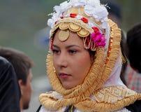 Gorani新娘,科索沃 免版税库存照片