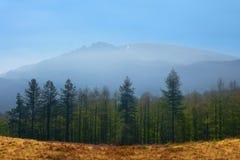 Gorbea mountain on sunny day. Gorbea mountain on a sunny day stock photography