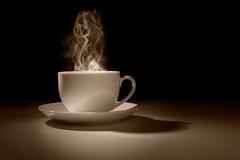 Gorąca filiżanka kawy lub herbata Obrazy Stock