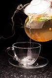 Gorąca herbata z cytryną i mennicą Zdjęcie Stock