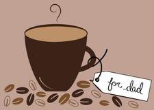 Gorąca kawa Dla tata Obrazy Royalty Free