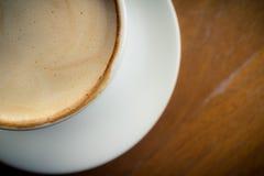Gorąca kawa z piany mlekiem Obrazy Royalty Free