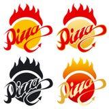 gorąca pizza logo Zdjęcie Stock