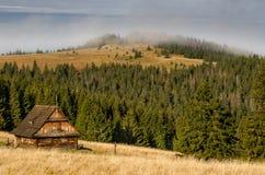 Gorce kabin Arkivfoto