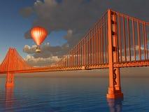 Gorące Powietrze Balonowy Golden Gate Bridge Zdjęcie Royalty Free
