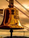 Gorch Fock German Navy Ship-Stiefel Bell Lizenzfreies Stockbild