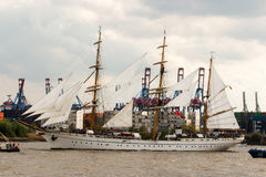 Gorch Fock w Hamburg Obrazy Royalty Free