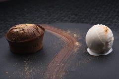 Gorący czekoladowy pudding Obrazy Royalty Free