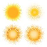 gorący słońce Zdjęcie Royalty Free