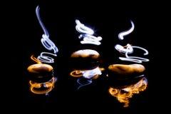 Gorących kamieni lekki obraz Obrazy Royalty Free