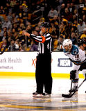 Gord Dwyer NHL referee Royalty Free Stock Photos