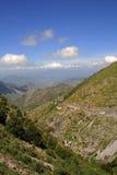 gordabergtoppig bergskedja Arkivbild