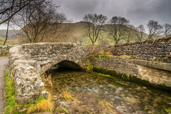 Gordale Bridge upstream from Janets Foss. Gordale Bridge over Gordale Beck is just upstream from Janets Foss near Malham Royalty Free Stock Photos